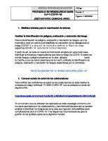 Medidas iniciales para la reactivación de labores contratistas