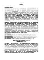 Minuta de Contrato de Compra Venta Vega 2018