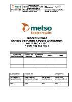 P-DGM-MEC-015 Proc. Cambio de Manto A Poste Chancador MK II 60 X 110 Rev 1