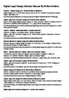 Pdfsecret.com Digital Logic Design Solution Manual by m Morris Mano Adgkuty