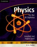 Physics - K.a. Tsokos - Fifth Edition - Cambridge 2008