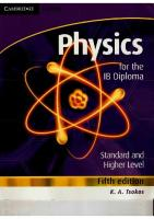 Physics (Tsokos) Fifth Edition