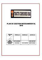 Plan de Gestion Medio Ambiental