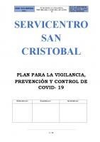 PLAN DE VIGILANCIA, PREVENCION Y CONTROL DE COVID 19