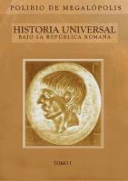 Polibio de Megalopolis - Historia Republica Romana Tomo I