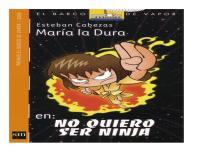 Portada Maria La Dura Quiere Ser Ninja
