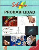 Probabilidad-Seymour Lipschutz