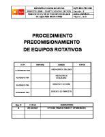 Procedimiento de Pre-comisionado Equipos Rotativos