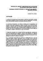 Protocolo de Limpieza y Desinfeccion