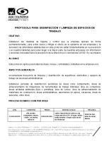 PROTOCOLO DESINFECCION LIMPIEZA
