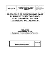 PROTOCOLOS DE BIOSEGURIDAD - PELUQUERIAS