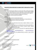 Requisitos para INGRESO Y CARNETIZACION DE CONDUCTORES