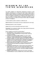 Resumen De Los Textos Academicos