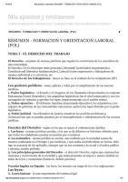 Resumen - Formacion y Orientacion Laboral (Fol)