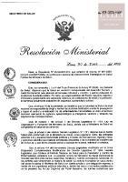 R.M. N° 448-2020-MINSA