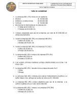 Taller de contabilidad: Centro De Servicios Financieros Tema: Registros contables