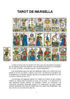 Tarot de Marsella. Tiradas