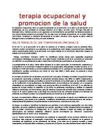 Terapia Ocupacional y Promocion de La Salud