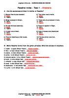 Test Passive1 en Answers