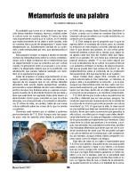 Vargas Llosa - Metamorfosis de Una Palabra