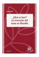 Vidarte, Paco - ¿Qué es leer. La invención del texto en filosofía.pdf