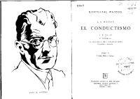 Watson John - El Conductismo