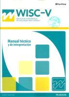WISC v Manual Tecnico y de Interpretacion PDF