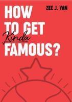 Zee JYan - How To Get Kinda Famous